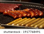 Barbeque Sausage. Bbq Grill...