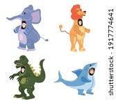 set actors in animal elephant ... | Shutterstock .eps vector #1917774641