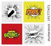 different pop art objects on a... | Shutterstock .eps vector #191777471