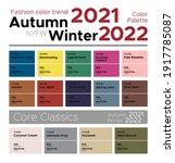 fashion color trends autumn... | Shutterstock .eps vector #1917785087