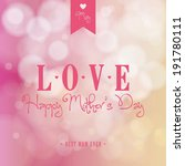 abstract mother's day... | Shutterstock .eps vector #191780111