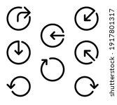 arrowhead icon set  with...
