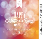 abstract mother's day... | Shutterstock .eps vector #191780141