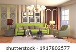 interior of the living room. 3d ... | Shutterstock . vector #1917802577