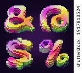 3d rendering of colorful... | Shutterstock . vector #1917813524