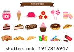 a set of sweets. sweet pastries ... | Shutterstock .eps vector #1917816947