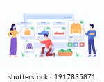consumer view  choose and buy... | Shutterstock .eps vector #1917835871