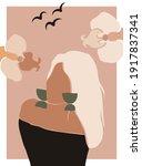 female shape  silhouette on...   Shutterstock .eps vector #1917837341