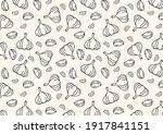 garlic pattern wallpaper....   Shutterstock .eps vector #1917841151