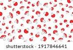 mushroom seamless pattern.... | Shutterstock .eps vector #1917846641