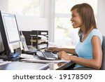 teenage girl using a computer | Shutterstock . vector #19178509
