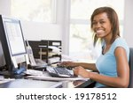 teenage girl using a computer | Shutterstock . vector #19178512