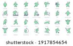 sport people simple line icons. ... | Shutterstock .eps vector #1917854654