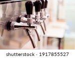 Beer Tap. A Pint Of Beer.