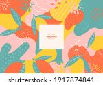 vector frame with doodle mango... | Shutterstock .eps vector #1917874841