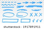 blue highlighter set   lines ... | Shutterstock .eps vector #1917891911