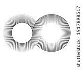 infinity symbol .vector curved... | Shutterstock .eps vector #1917898517