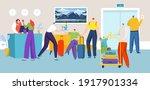 people in hotel reception ... | Shutterstock .eps vector #1917901334