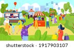 fair festive on street  food... | Shutterstock .eps vector #1917903107