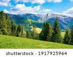 Mountain Landscape On A Sunny...