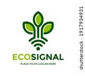 ecology signal vector logo... | Shutterstock .eps vector #1917934931