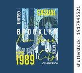 brooklyn new york city graphic... | Shutterstock .eps vector #1917945521