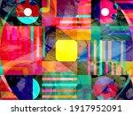 bright multi colored retro... | Shutterstock . vector #1917952091