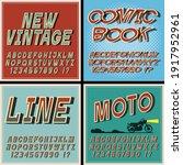 vintage fonts set  retro style... | Shutterstock .eps vector #1917952961