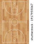 basketball court. wooden floor. ... | Shutterstock .eps vector #1917955067