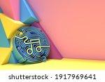 3d render abstract music note... | Shutterstock . vector #1917969641