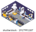 footwear shoes production...   Shutterstock .eps vector #1917991187