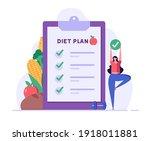 diet plan illustration. people... | Shutterstock .eps vector #1918011881