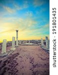 the ruins of an ancient temple... | Shutterstock . vector #191801435