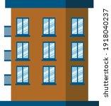 vector residential building....   Shutterstock .eps vector #1918040237