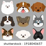 set of flat colored cute and...   Shutterstock .eps vector #1918040657