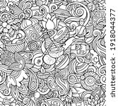 cartoon doodles india seamless... | Shutterstock .eps vector #1918044377