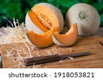 Slices Of Ripe Melon With A...