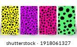 set of leopard print. panther...   Shutterstock .eps vector #1918061327