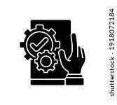 useful black glyph icon....