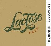 lactose free typography vector...   Shutterstock .eps vector #1918096061