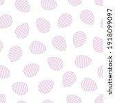 easter eggs seamless pattern....   Shutterstock .eps vector #1918099097