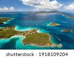 Aerial View Of Caneel Bay On...