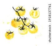 abstract watercolour... | Shutterstock . vector #1918137761