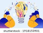 creativity  new ideas ... | Shutterstock .eps vector #1918153901