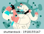 working in chemical laboratory...   Shutterstock .eps vector #1918155167