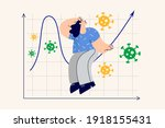 stock market crash and crisis... | Shutterstock .eps vector #1918155431