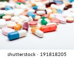 Many Colorful Medicines. Pills...
