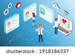 doctor diagnosis of elderly... | Shutterstock .eps vector #1918186337