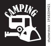 the camping logo concept design | Shutterstock .eps vector #1918204421