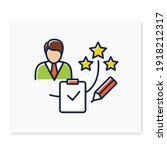 personal assessment color icon... | Shutterstock .eps vector #1918212317